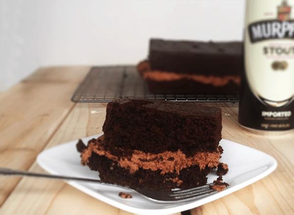 Chocolate Stout Cake & Chocolate PB frosting