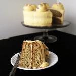 Roasted Banana Cream Cake