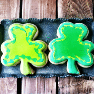 St. Patty's Day Shamrock Sugar Cookies