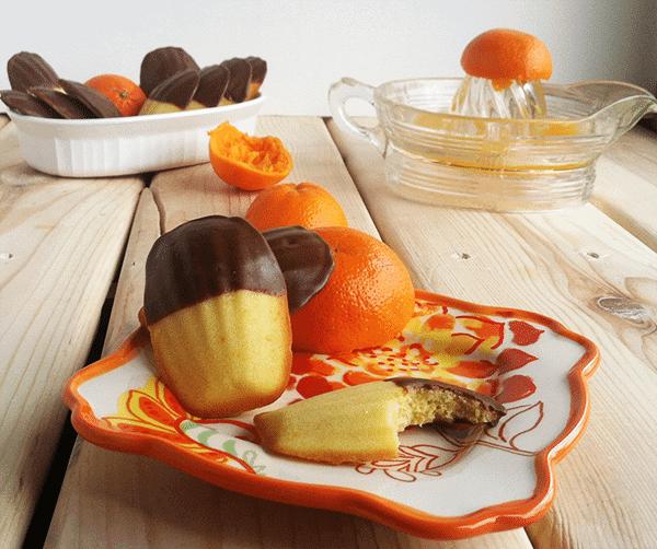 Orange Madeleines Cookie Dough And Oven Mitt