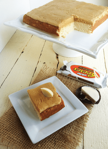 White Chocolate Brownies with Peanut Butter Frosting