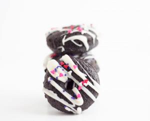 Dark Chocolate Mini Baked Donuts