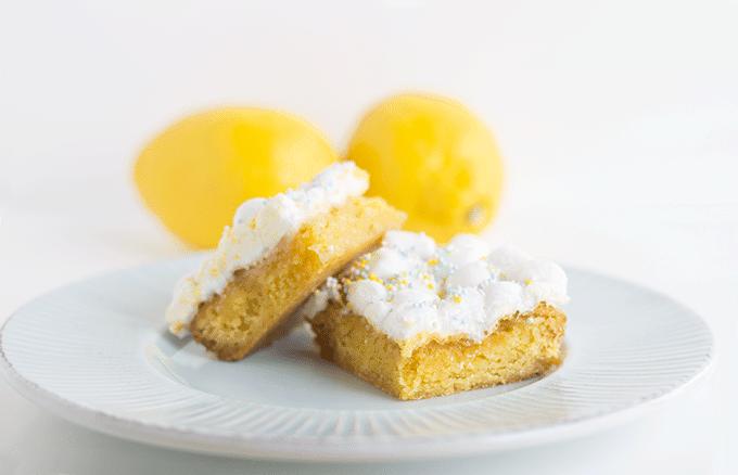Lemon Cake Mix Bars