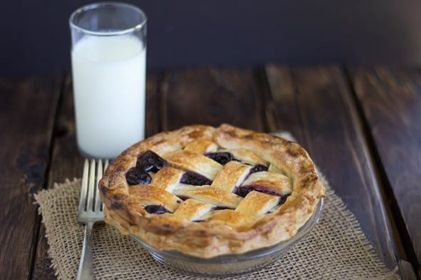 Canned Concord Grape Pie Filling + Pie