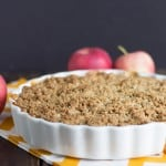 Apple Peanut Butter Crumble