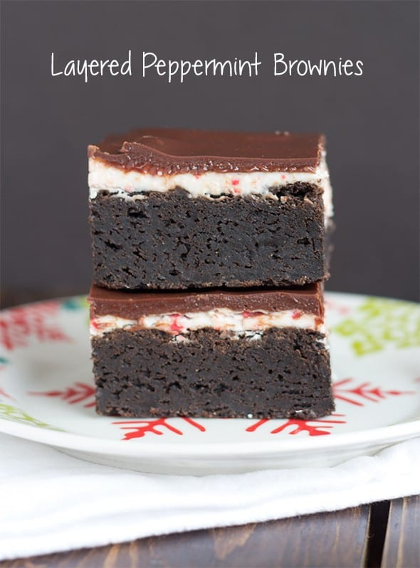 Layered Peppermint Brownies Cookie Dough And Oven Mitt
