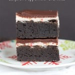 Layered Peppermint Brownies