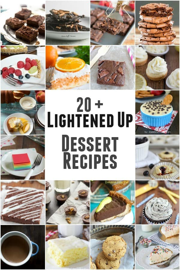 20+ Lightened Up Dessert Recipes