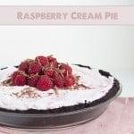 Easy Raspberry Cream Pie