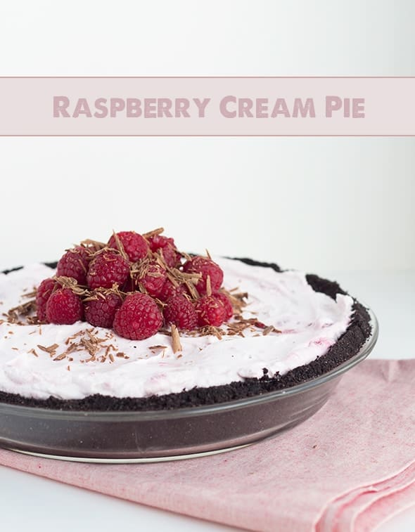 Easy Raspberry Cream Pie