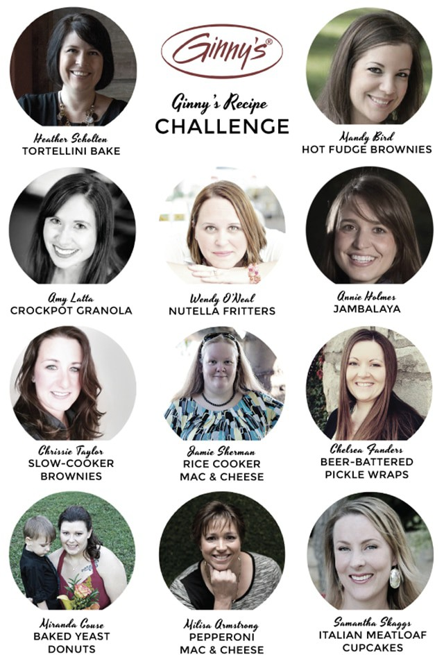 images of bloggers in the Ginny's recipe challenge