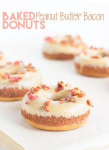 Baked Peanut Butter Bacon Donuts