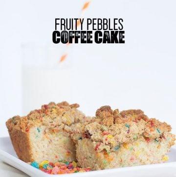 Fruity Pebbles Coffee Cake