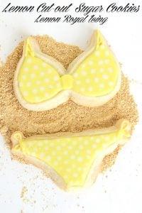 Lemon Cut-out Sugar Cookies with Lemon Royal Icing