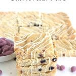 Blueberry Almond Shortbread Bars