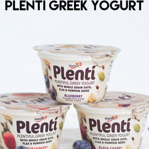 Snacking on Plenti Greek Yogurt