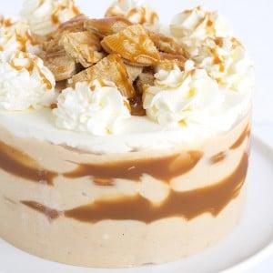 Peanut Butter Caramel Oreo Ice Box Cake