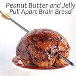 Peanut Butter and Jelly Pull Apart Brain Bread