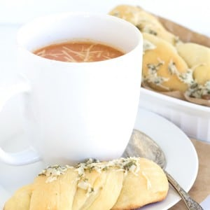 Brewed Soup and Dipping Bread Sticks