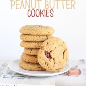 Jelly Stuffed Peanut Butter Cookies