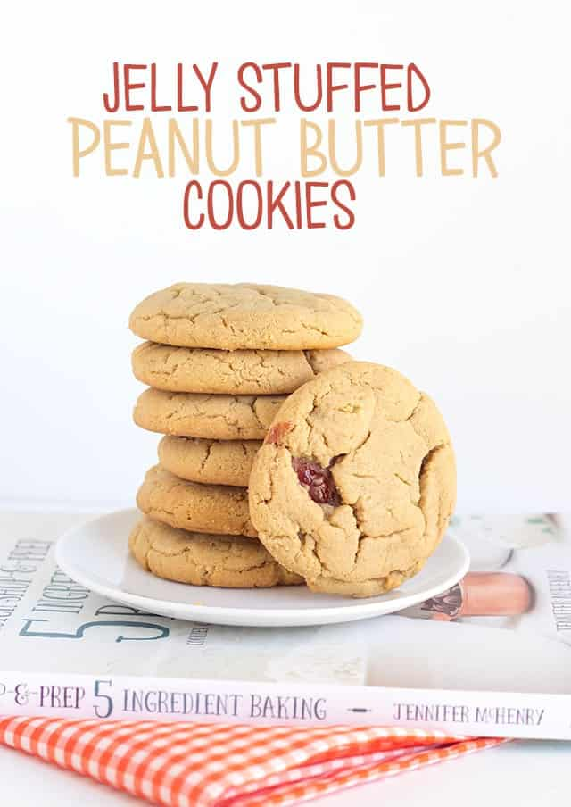Jelly Stuffed Peanut Butter Cookies
