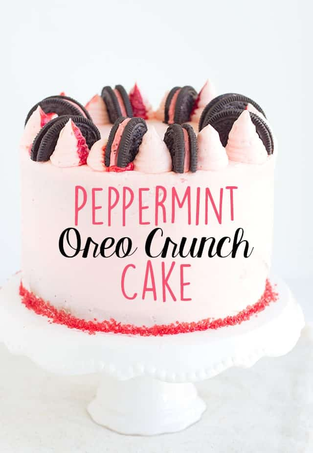 Peppermint Oreo Crunch Cake
