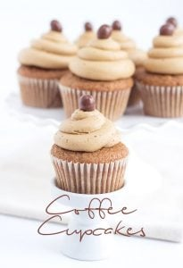 Image taken from the front of coffee cupcakes