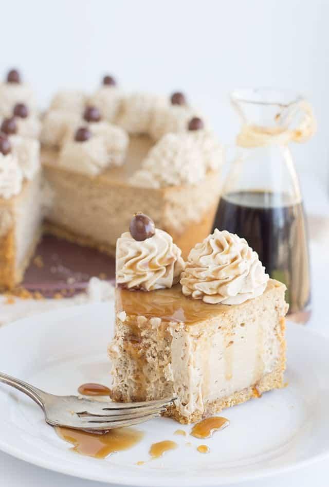 Coffee Cheesecake Baked Cheesecake Recipe Cookie Dough