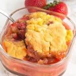 Warm Strawberry Rhubarb Shortcake