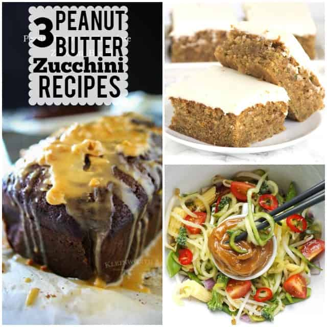 3 peanut butter zucchini recipes to knock your socks off this summer!