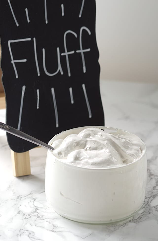 bowl of Homemade Marshmallow Fluff