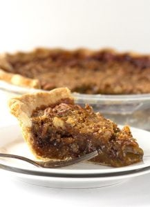 Chocolate Pecan Pie - easy chocolate filled pecan pie that's delicious served cold or warm.