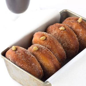 Coffee Custard Filled Donuts