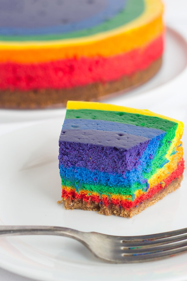 Rainbow Cheesecake - Cookie Dough and Oven Mitt