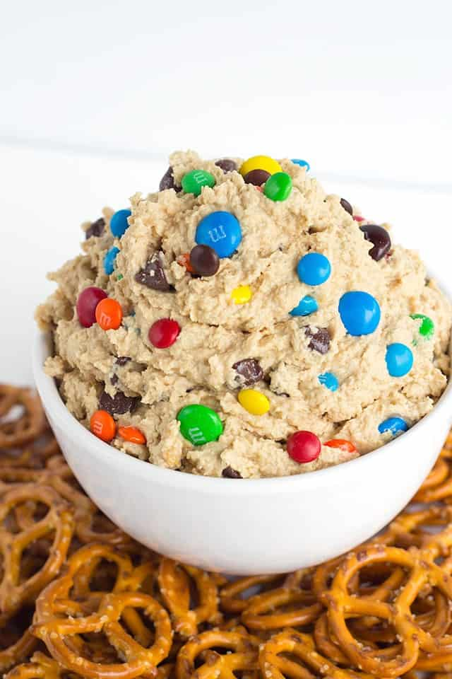 Monster Cookie Dough Dip Cookie Dough And Oven Mitt