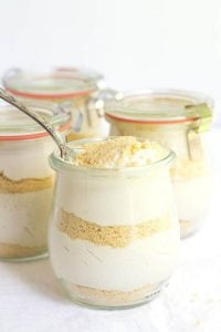 No Bake Cappuccino Trifles - These trifles are quick and easy! They have layers of buttery shortbread and french vanilla cappuccino mousse. They're the perfect cool off treat for a hot summer day!