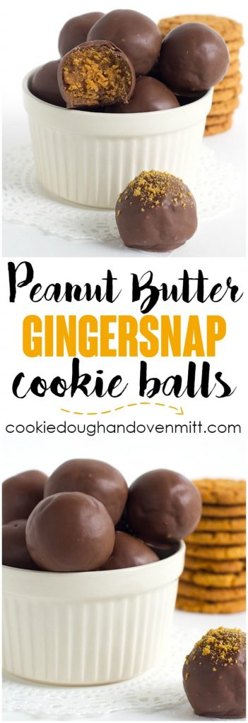 No Bake Peanut Butter Gingersnap Cookie Balls - Make some mouth watering, spiced up peanut butter balls using gingersnaps. Grab your 5 ingredients and whip these up in minutes!