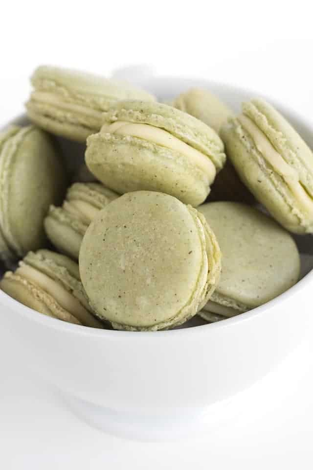 Green Tea French Macarons - Cookie Dough and Oven Mitt
