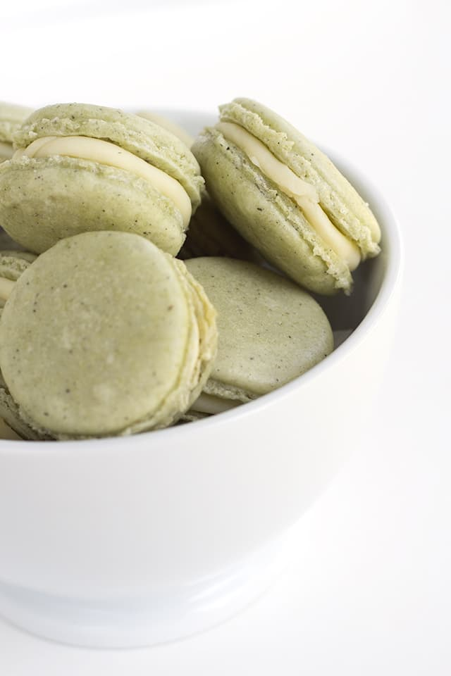 Green Tea French Macarons