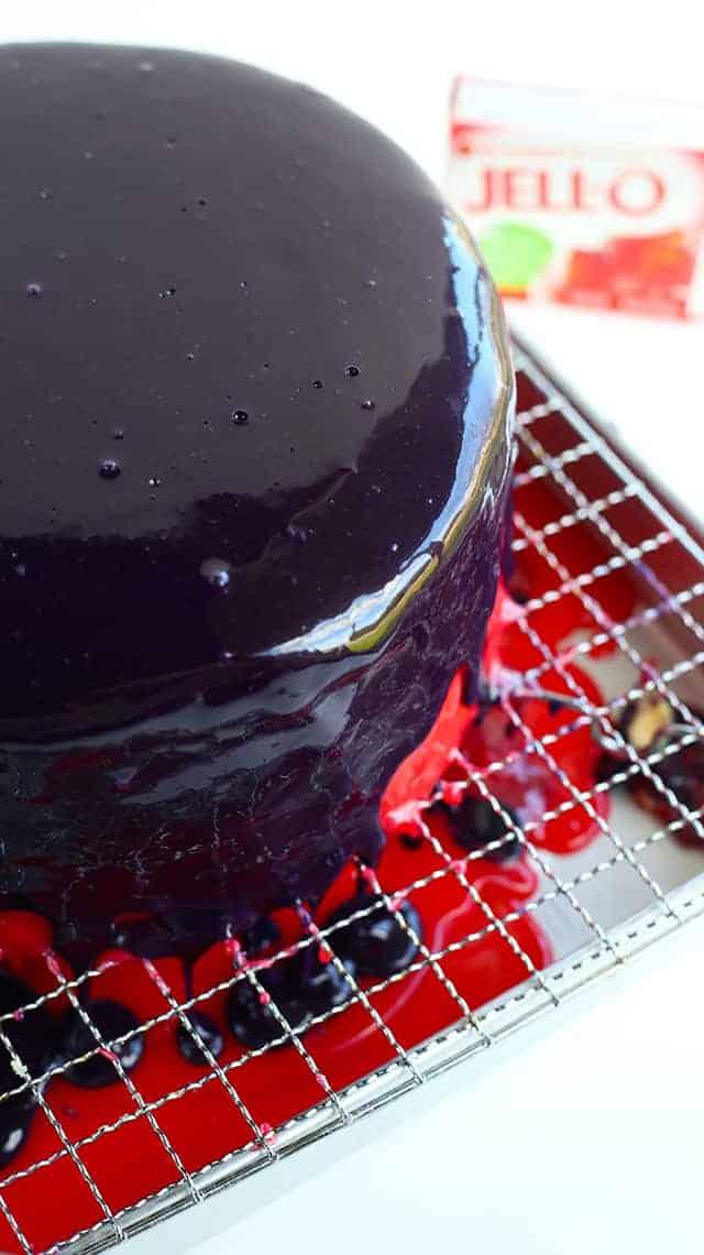 Jell-o Mirror Glaze Cake