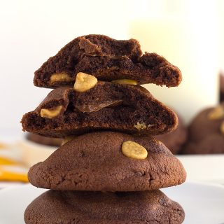 Peanut Butter Chocolate Pudding Cookies