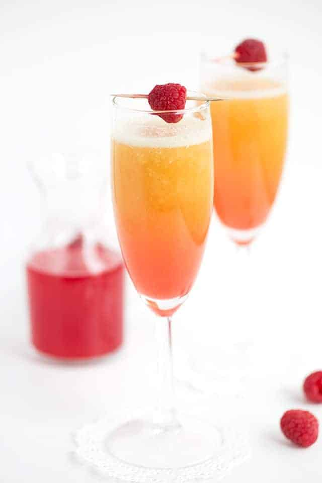 Peach Raspberry Bellini - Cookie Dough and Oven Mitt