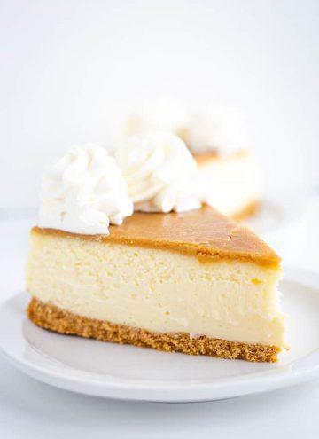 slice of butter rum cheesecake