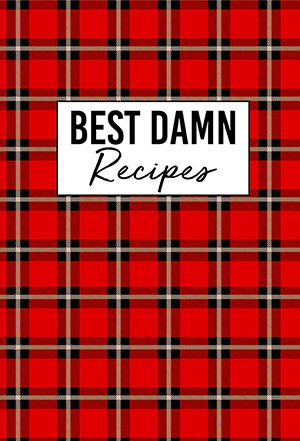 Buffalo Plaid Blank Recipe Book Cover