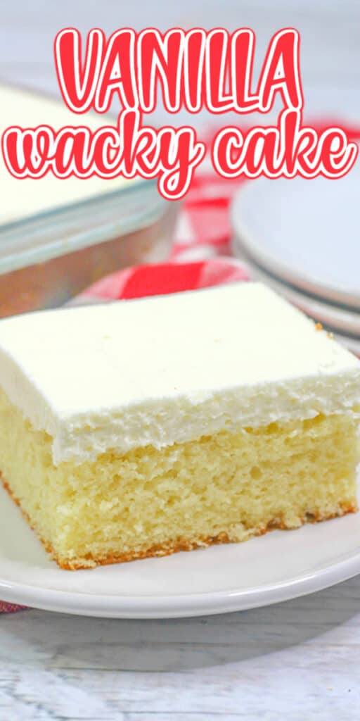 closeup cake photo for pinterest with recipe name in text