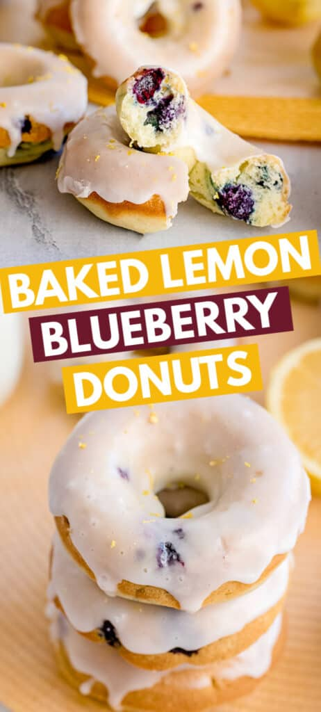 pinterest collage of donut photos with recipe name in text