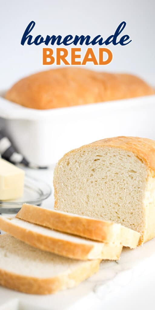 photo of a sliced loaf of bread with the title of the recipe in text