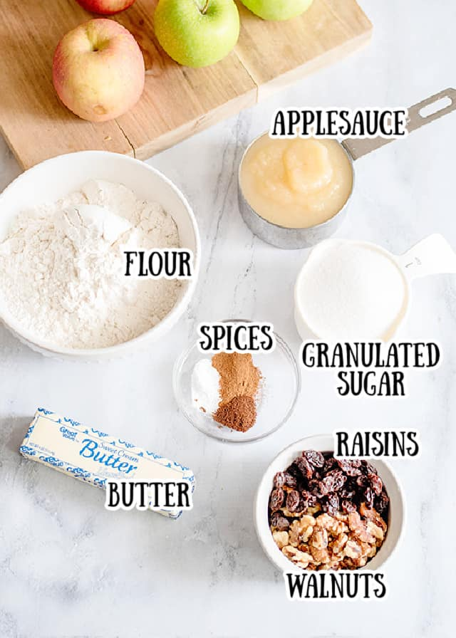 baking ingredients with text saying what each ingredient is