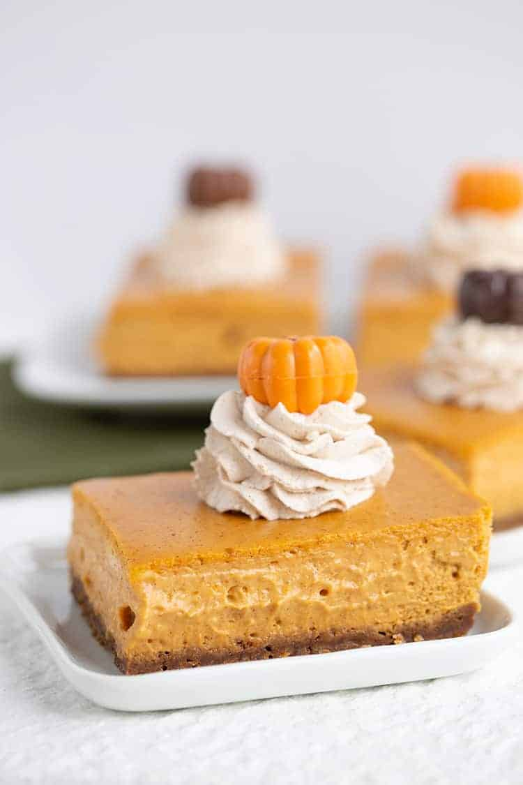 Pumpkin Cheesecake Bars Cookie Dough And Oven Mitt