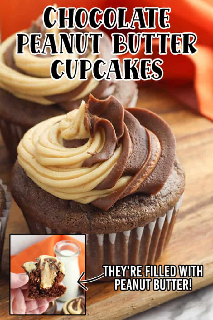 zoomed in photo of cupcakes with text at the top and bottom